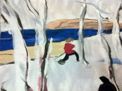 134. Afternoon snowshoe 1